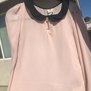 Peter Pan collar long sleeve blouse
